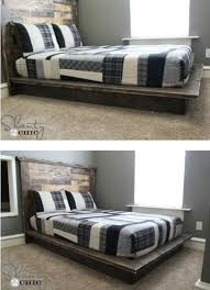 Build A Platform Bed Frame Plans by 21 Diy Bed Frame Projects U2013 Sleep In Style And Comfort Diy U0026 Crafts