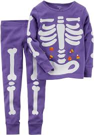amazon com carter u0027s big girls u0027 glow in the dark halloween pajamas