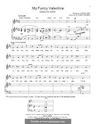 my funny valentine by r rodgers sheet music on musicaneo
