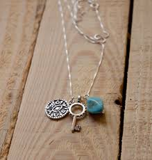 key necklace men images Turquoise gate opening key necklace for men women jpg