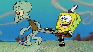 spongebob tear sweater feeling overwhelmed try acting a bit more like squidward