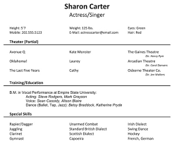 Musicians Resume Template Image Result For Resume For Acting Resume