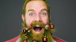beard ornaments beard baubles tiny christmas ornaments that men can hang from
