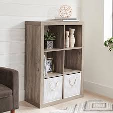amazon com better homes and gardens 6 cube organizer rustic gray