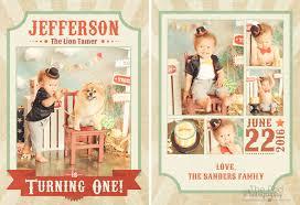 custom circus invitations custom party invitations u0026 thank you cards best first birthday