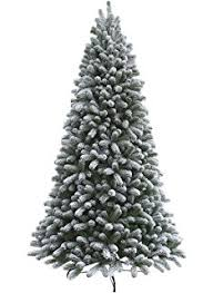 12 ft flocked snowy pine tree with multi