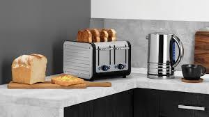 Dualit Orange Toaster Black U0026 Brushed Stainless Steel Dualit 4 Slice Architect Toaster