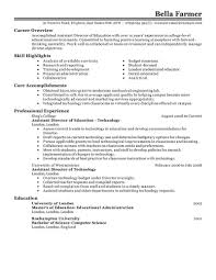 Resume Of College Student Associate Director Resume Resume For Your Job Application