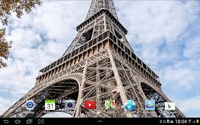Eiffel Tower Wallpaper For Walls Rainy Paris Live Wallpaper Android Apps On Google Play