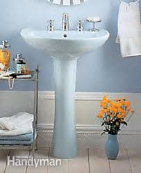 Rough In For Pedestal Sink How To Plumb A Pedestal Sink Family Handyman