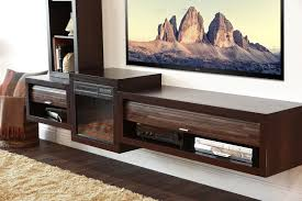 Tv Tables Wood Modern Floating Tv Stand With Fireplace Eco Geo Espresso Woodwaves