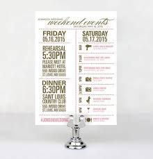 wedding itinerary template for guests best 25 wedding weekend itinerary ideas on wedding