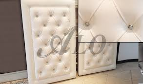how to make a mirror headboard diy crystal tufted furniture piece as a backdrop alo upholstery