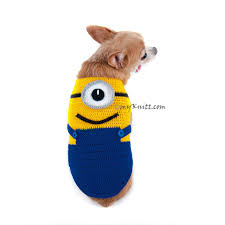 Dog Minion Halloween Costumes Products Dog Halloween Costumes Myknitt