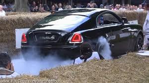 rolls royce wraith 2016 rolls royce wraith burnout youtube