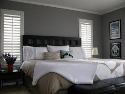 bedroom designs with dark blue walls black platform bed grey