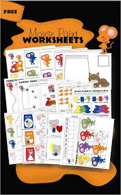 free mouse paint worksheets for kids from toddler preschool prek