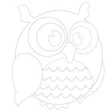 owl outline template owl outline template owl template by