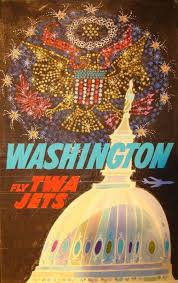 Vintage travel posters that lured tourists to washington d c