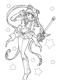 super sailor moon coloring sailormoon sailor moon