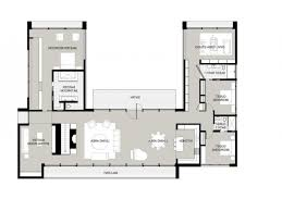 Single Family Home Plans U Shaped House I Would Convert The Theater Room For Gunroom Plans