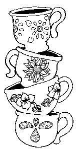 tea cup coloring pages for adults coloring pages on pinterest