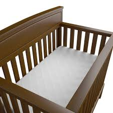 crib mattress topper baby works quilted u0026 fitted bamboo crib mattress protector