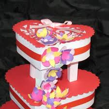 heart 3 tier wedding celebration cake template