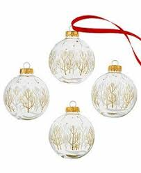set of 4 starflake design clear teardrop glass ornaments 9 99