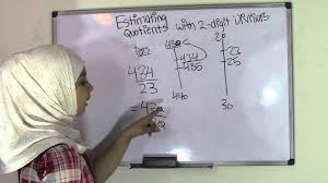 5th grade math estimating quotients with two digit divisors youtube