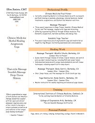 Resume Examples For Physical Therapist by Massage Therapy Resume The Best Letter Sample