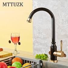 mitigeur cuisine mttuzk espace en aluminium cuisine robinet bubbed noir mitigeur