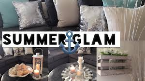 summer glam living room tour style ideas youtube
