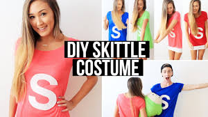 Halloween Shirt Costumes Easy Diy Group Costume Skittles Laurdiy Youtube