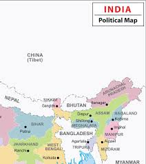 Nepal India Map by Buy India Political Wall Map Synthetic 70 X 83 Cm Book Online