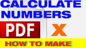 Count Calculation In Adobe Acrobat Forms How To Calculate Numbers In A Table Adobe Acrobat X For