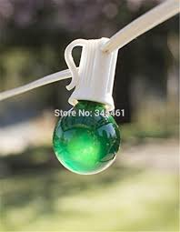 Patio Christmas Lights by Colorful G40 String Light Set 25ft Black Green White Cable With 25
