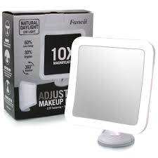 Magnifying Makeup Mirror With Light Fancii Led Lighted Magnifying Makeup Mirror 10x With Suction Mount