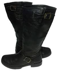 womens boots in s sizes frye 77605 slouch motorcycle s size 8 black boots