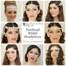 forehead headbands bridal forehead headpieces by hair comes the hair comes