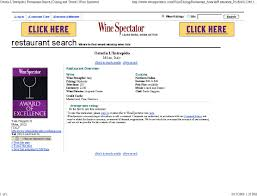 How To Put Together A Cover Letter Fictitious Restaurant Wins Wine Spectator Award Of Excellence Dr