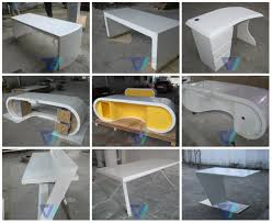 manufacture office table with keyboard drawer man made stone