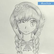 drawing sketch braids 03 png