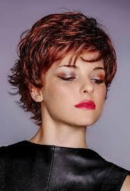 Pfiffige Kurzhaarfrisuren by Pfiffige Kurzhaarfrisur Mit Roten Haaren Und Strähnen Rote Haare