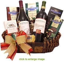 wine and chocolate gift baskets gourmet wine gift basket
