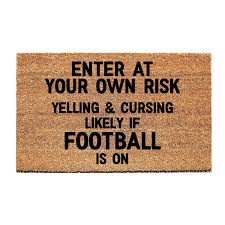 enter at your own risk doormat funny doormat welcome door