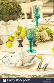 rustic dinner table settings image of rustic dinner table setting stock photo 116608026 alamy