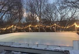 Backyard Rink Ideas Synthetic Basement And Backyard Rink Kits Hockey Shooting