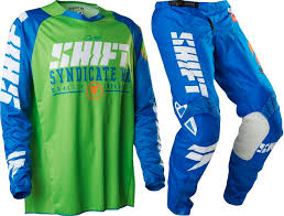 green dirt bike boots shift new mx gear set strike blue green dirt bike motocross pants