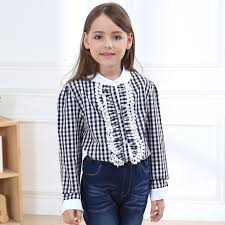 new year s tops new 5 13 years cotton shirts autumn children 2color
